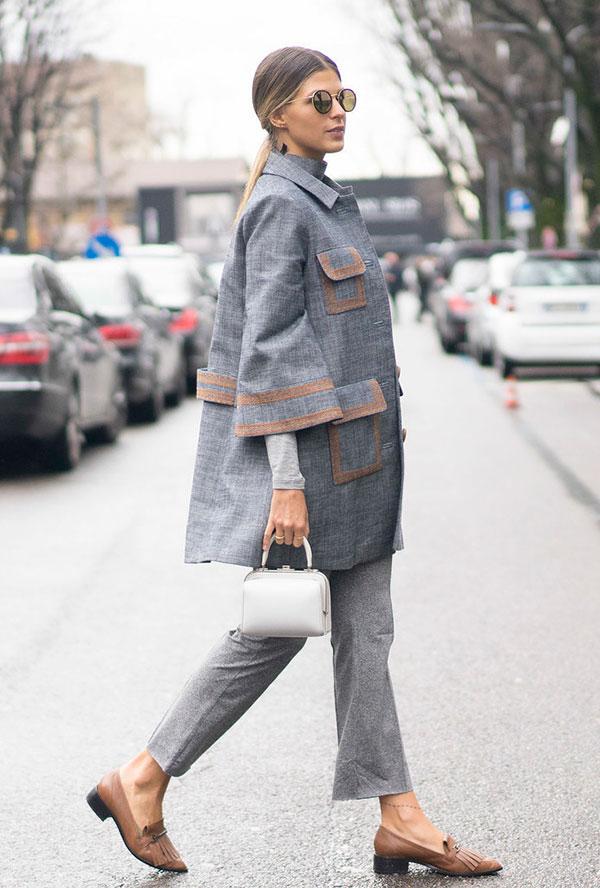 street-style-look-anna-fasano-blazer-calca-alfaiataria-cinza-flat-bege-marrom-bolsa-branca-oculos-redondo