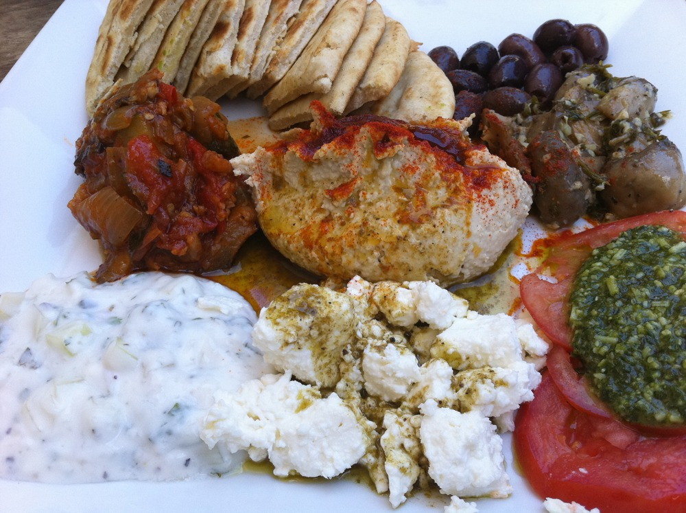 Mediterranean Plate at Cafe Des Amis