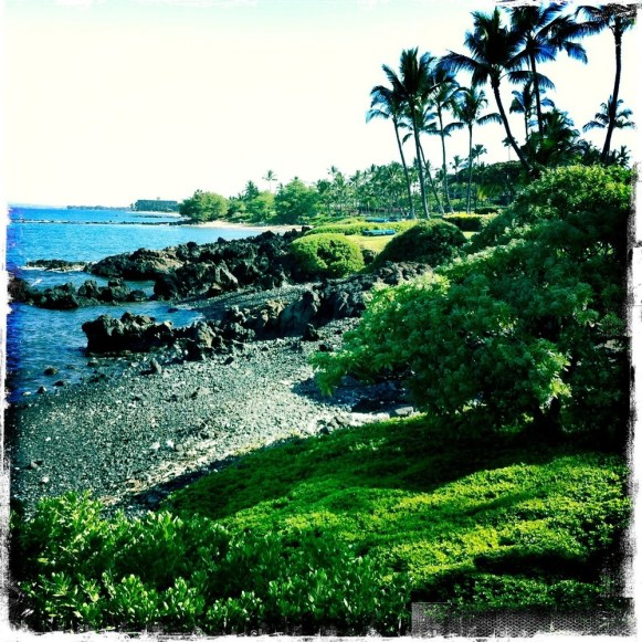 Walking along Wailea