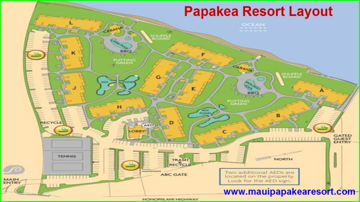 Papakea Resort Layout Map