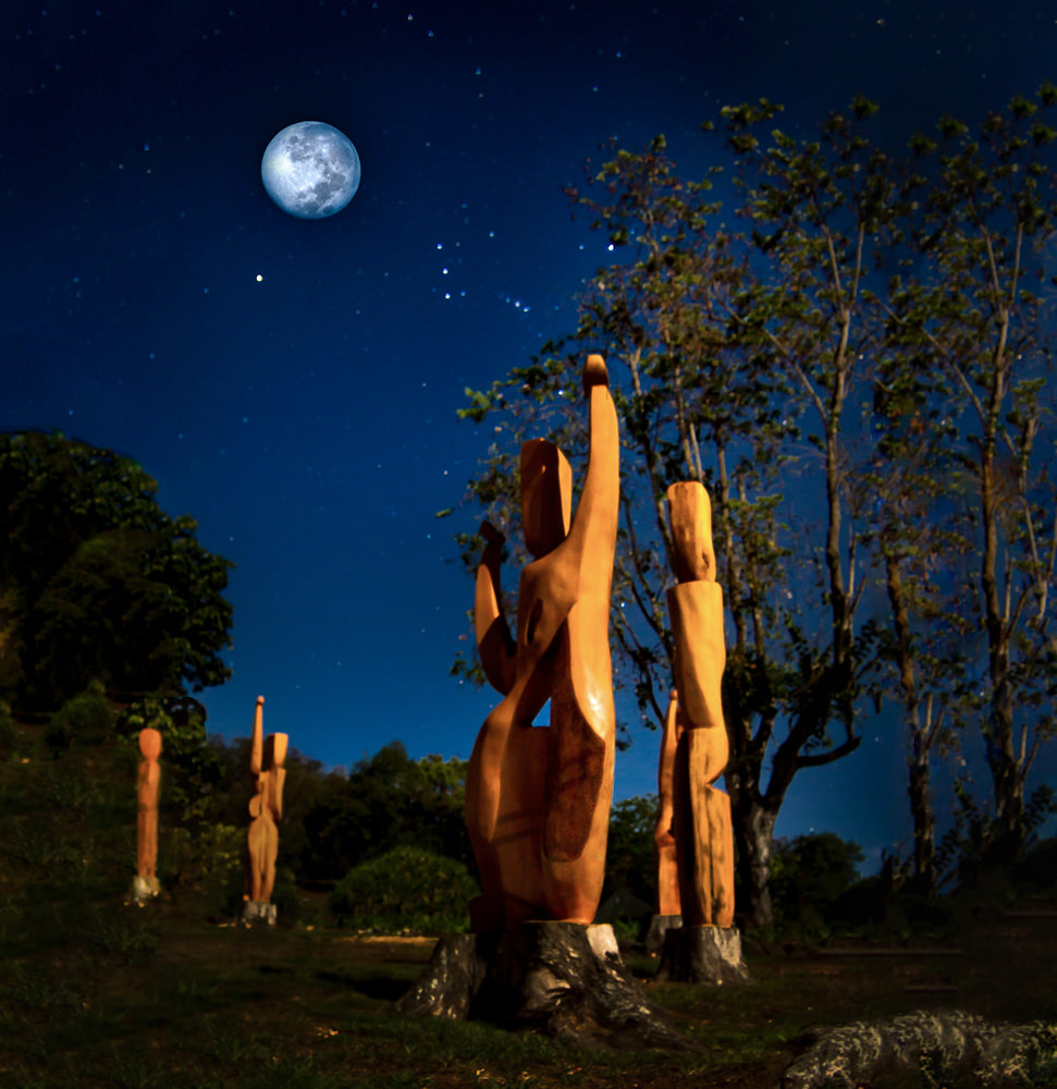 Hula Circle under the Blue Moon, by Tim Garcia,