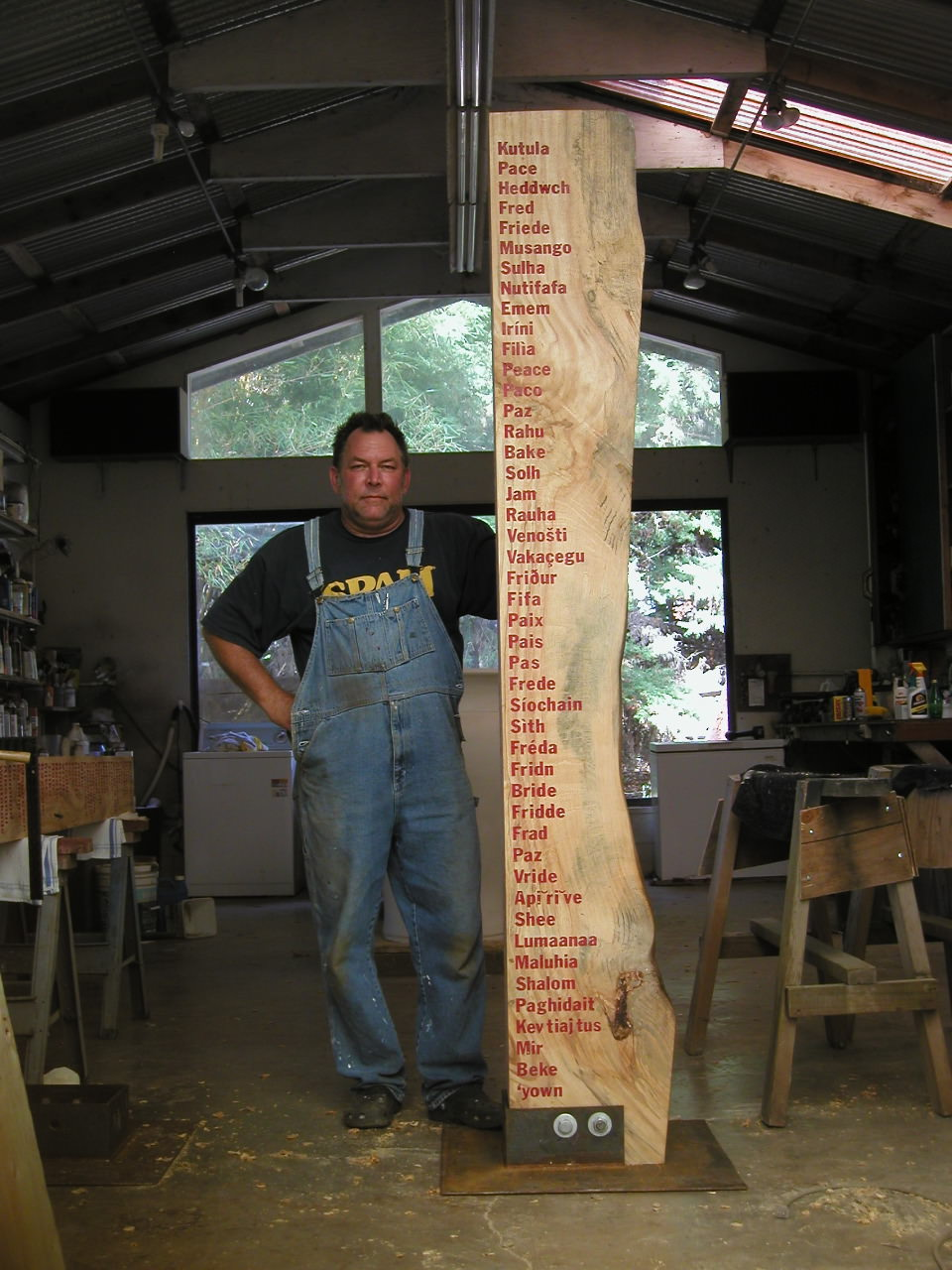 Making the Peace Poles, by Tim Garcia