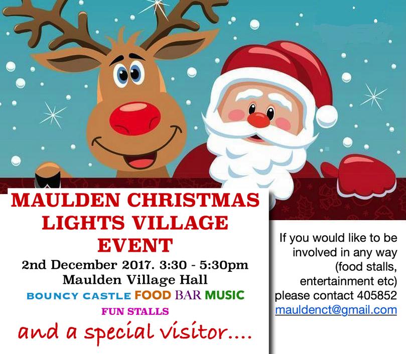 Maulden Christmas Lights Village Event