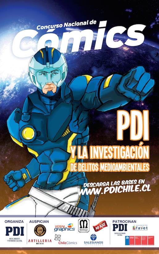 PDI y Consejo Nacional de Producción Limpia lanzan 2° Concurso Nacional de Comics sobre delito medioambiental