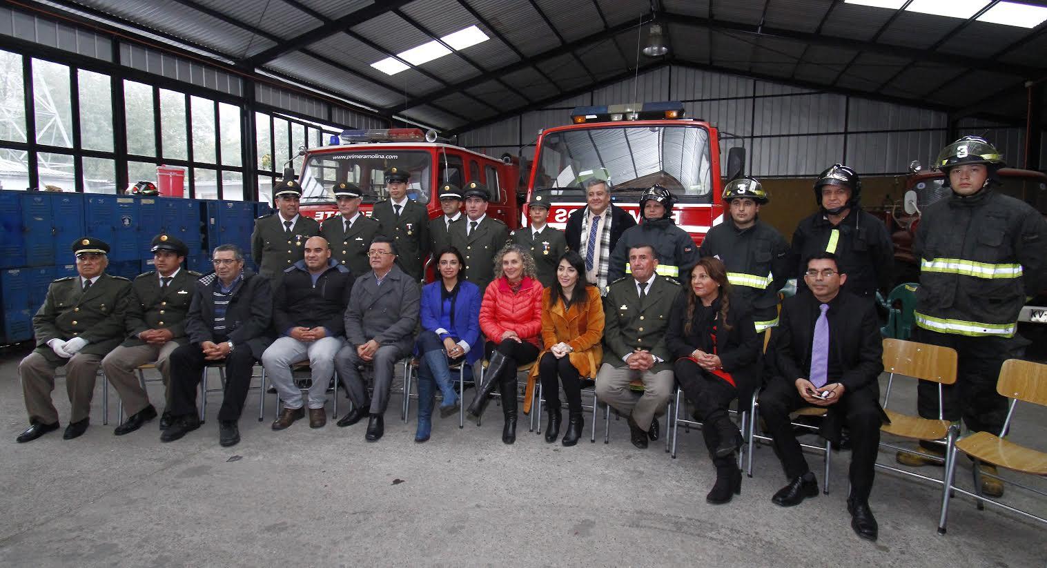 Gobernadora Provincial de Curicó exalta el trabajo de Bomberos de Chile en su 165 aniversario