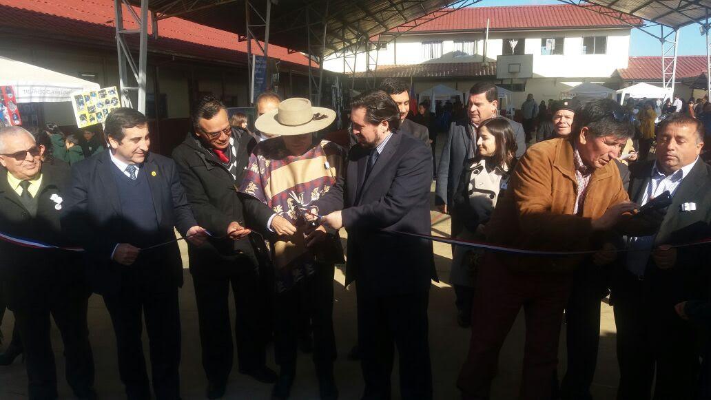 "Autoridades inauguran obras de infraestructura en Escuela ""Blanca Bustos Castillo"" de Chovellèn, Pelluhue"