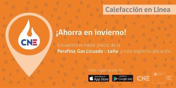 """Aplicación móvil gratuita """"Calefacción en línea"""" tieneinformación sobre la venta de parafina, gas y leña"""