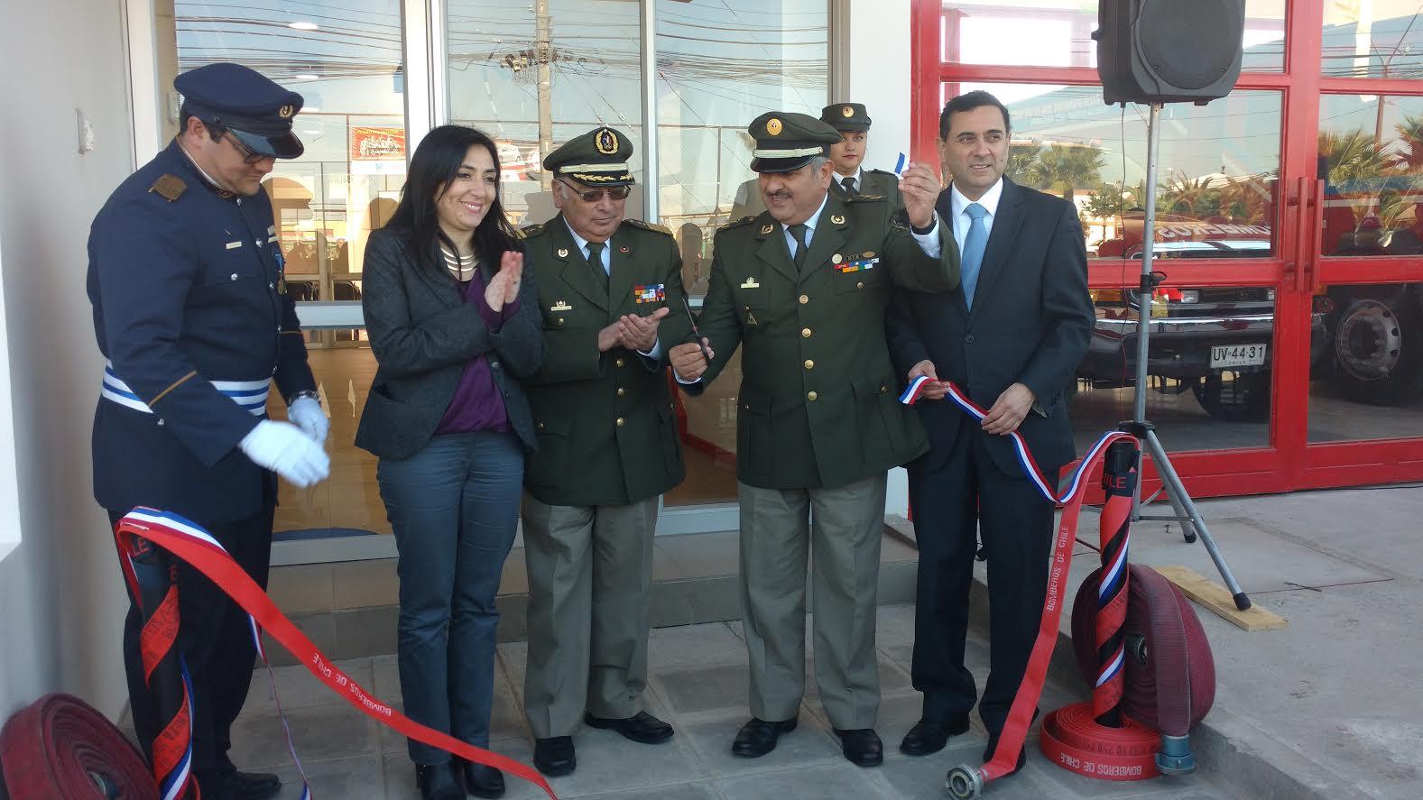 Se inauguró moderno cuartel de bomberos en sector Bombero Garrido de Curicó