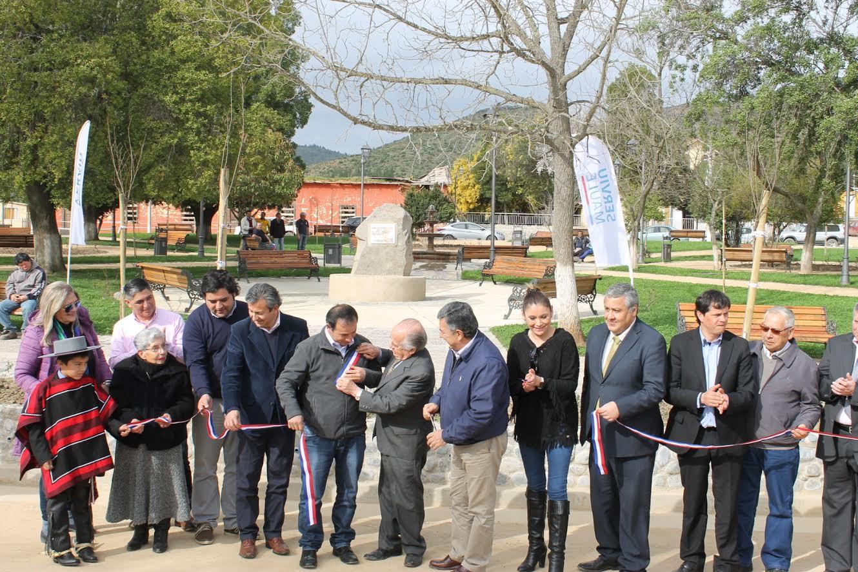 Vecinos de Huerta de Manuel en San Javier ya cuentan con una renovada plaza de armas