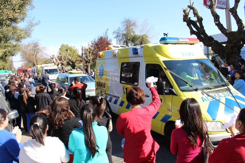 Funcionarios del hospital de Curicó y SAMU dieron el último adiós a Alex Silva