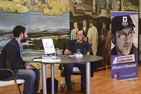 Talca y Curicó disfrutaron de conversatorio con Elicura Chihuailaf