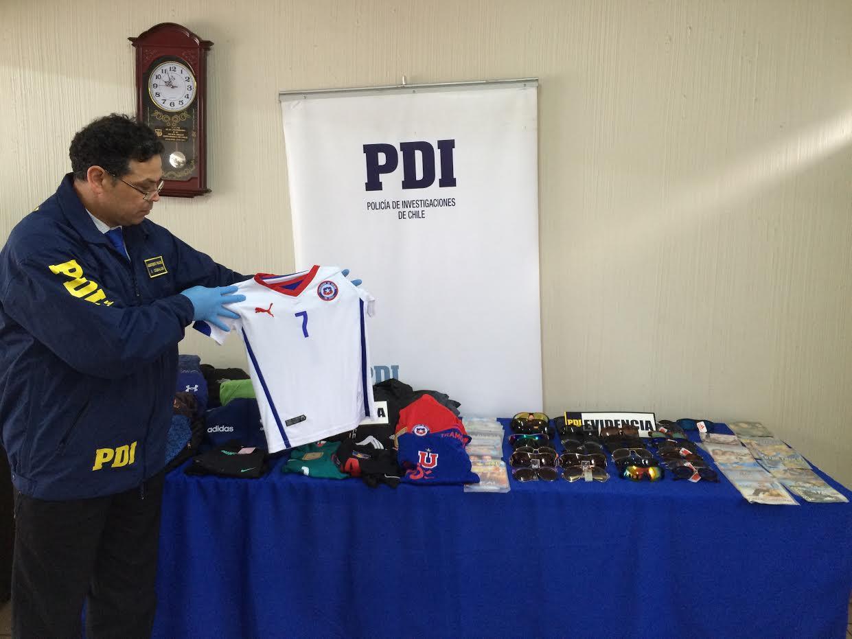 PDI Cauquenes incautó dos millones y medio de pesos en artículos falsificados