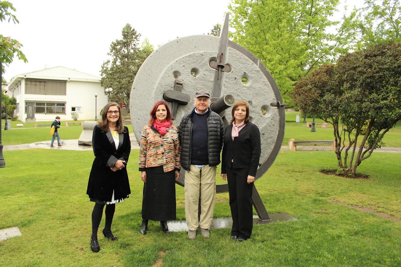 """Universidad de Talca inauguró """"La Rueda"""" en el Parque de las Esculturas"""