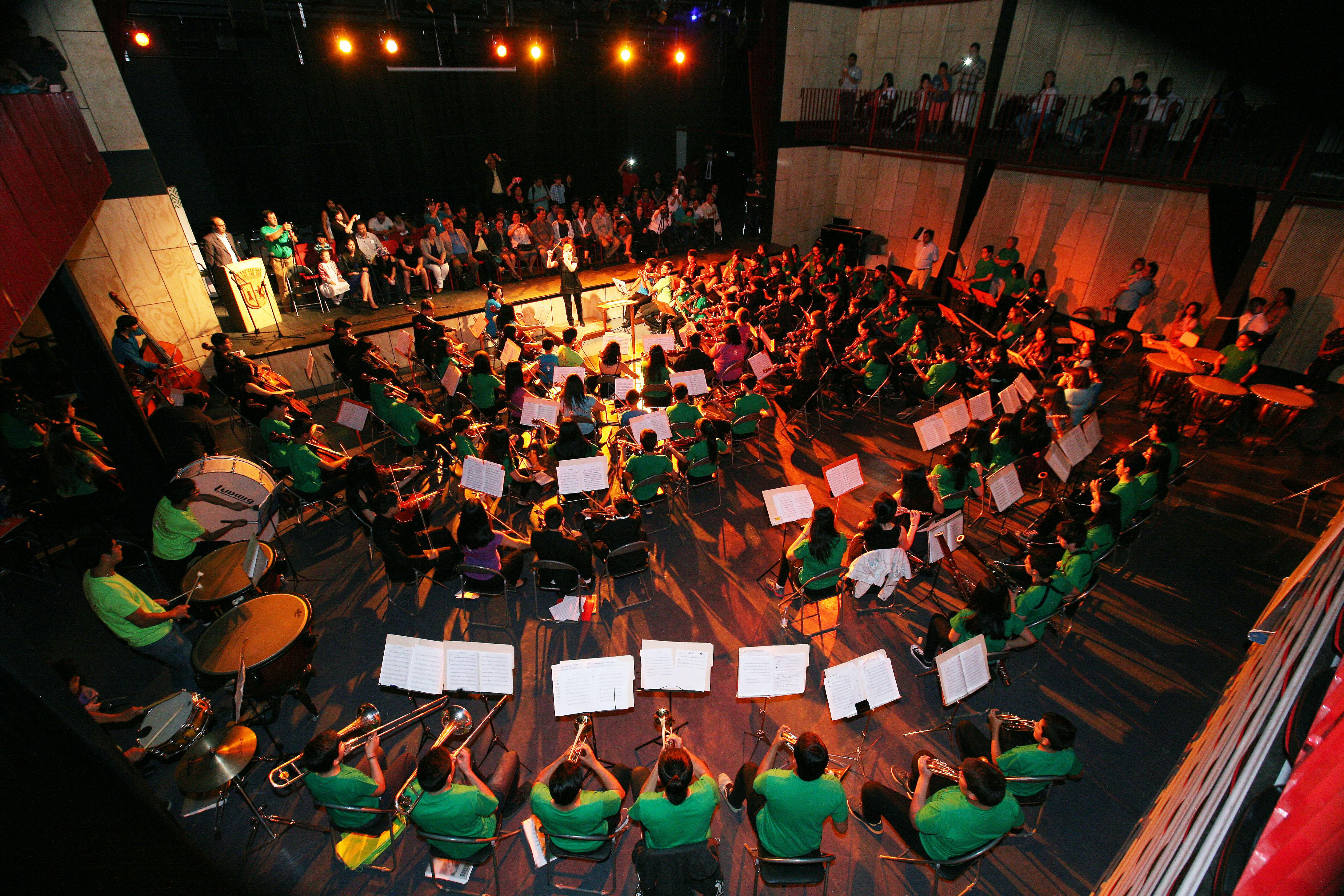 Alumnos de orquestas infantiles y juvenilesdeslumbraron con su talento