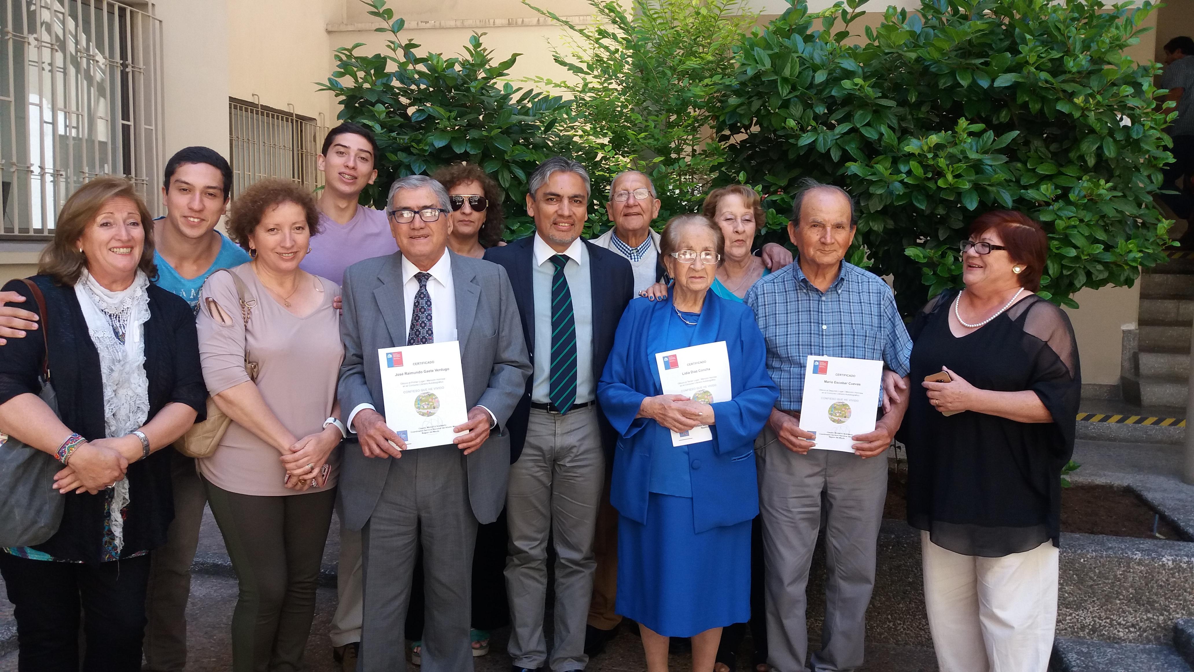 """""""Confieso que he Vivido"""": SENAMA Maule efectuó Premiación Regional de la Segunda versión del concurso para personas mayores"""