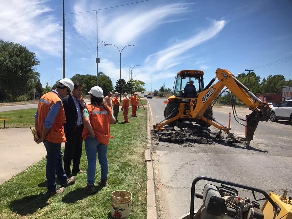 Municipalidad de Linares comienza plan de mejoramiento y reposición de principales calles y avenidas