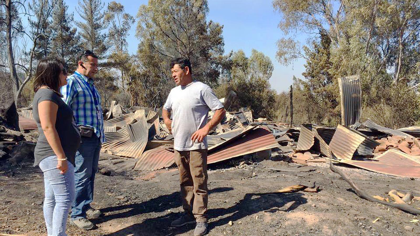 Serviu Maule adelantó catastro de familias con hogares incendiados para agilizar la reparación y reconstrucción de viviendas
