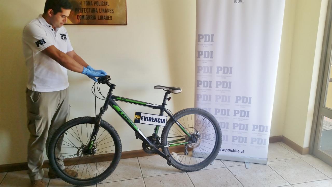 PDI Linares recupera bicicleta y llama al autocuidado de especies de valor
