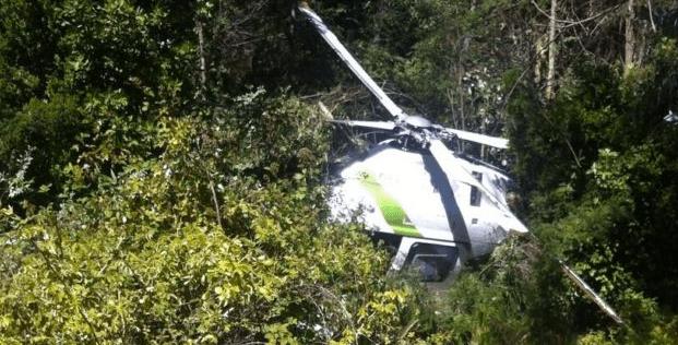 Helicóptero cayó en cercanías de San Clemente