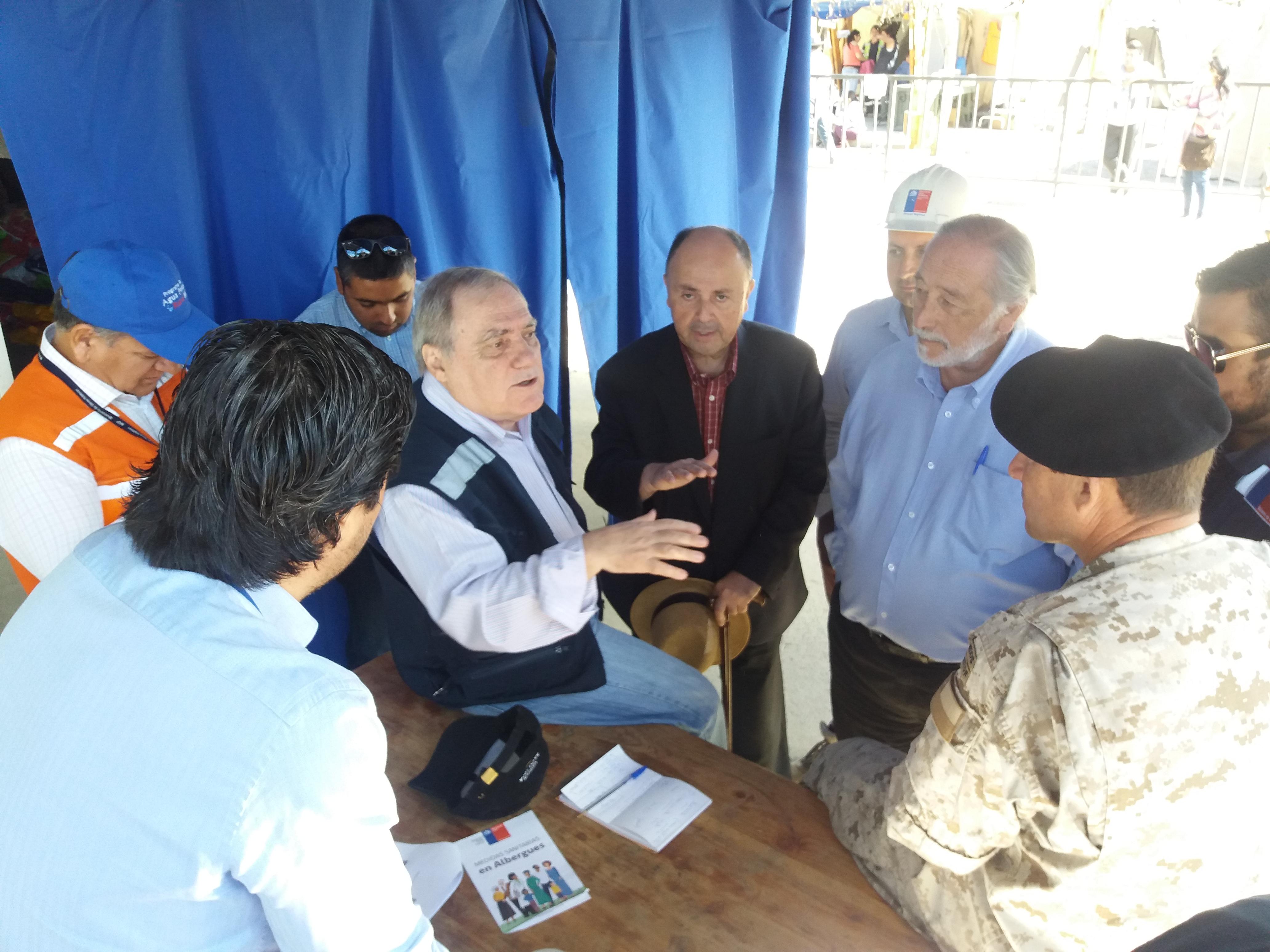 Coordinador Galilea inspeccionó en terreno avances de los trabajos de reconstrucción en Santa Olga