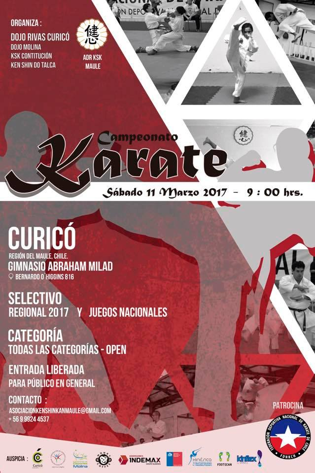 Torneo clasificatorio de Karate Maule y Open 2017