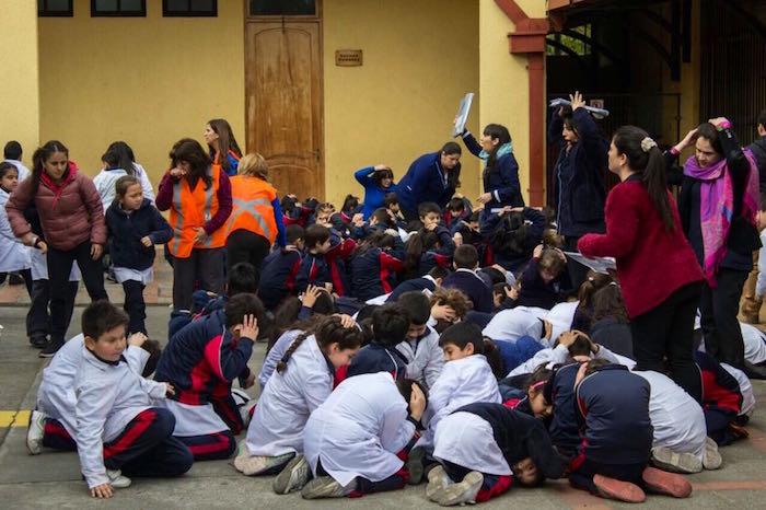 Simulacro de Terremoto y Tsunami de mayor intensidad vivieron alumnos del sistema educativo municipal en Talca
