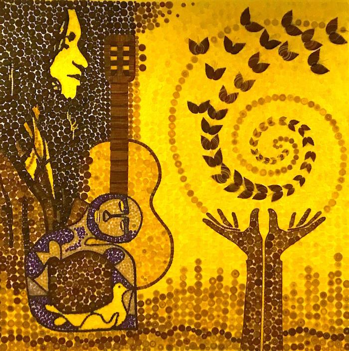 Artesanas de Rari entregan al Museo de Linares mural en crin en homenaje a Violeta Parra