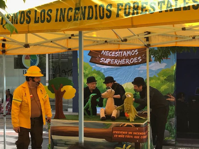 Forestín junto a sus amigos llaman a prevenir los incendios forestales