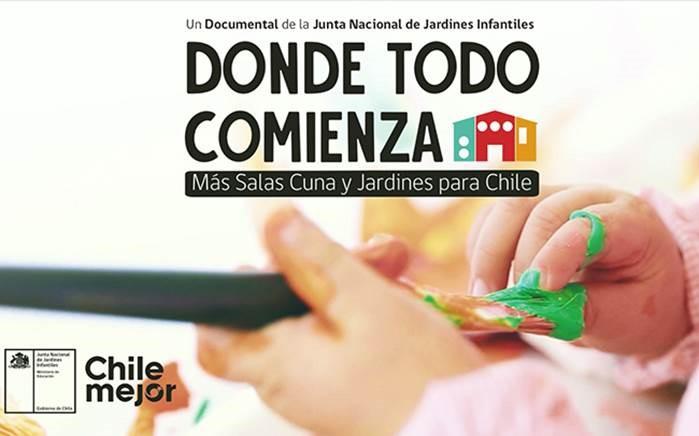 """JUNJI Maule realizó estreno provincial del documental """"Donde todo comienza: Más salas cuna y jardines para Chile"""""""
