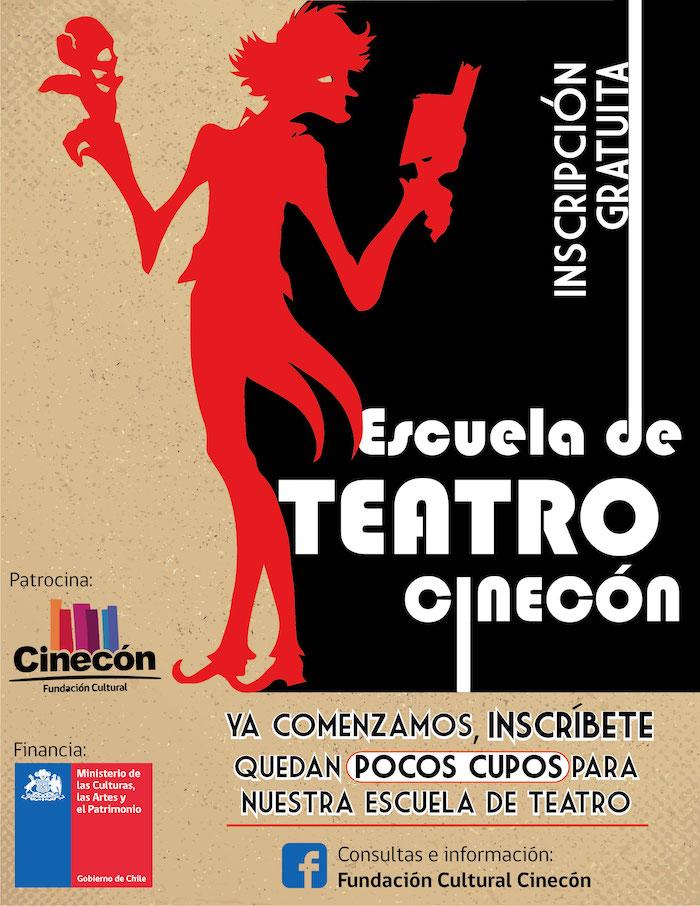 Ya están abiertas las inscripciones para la escuela de Teatro Cinecón