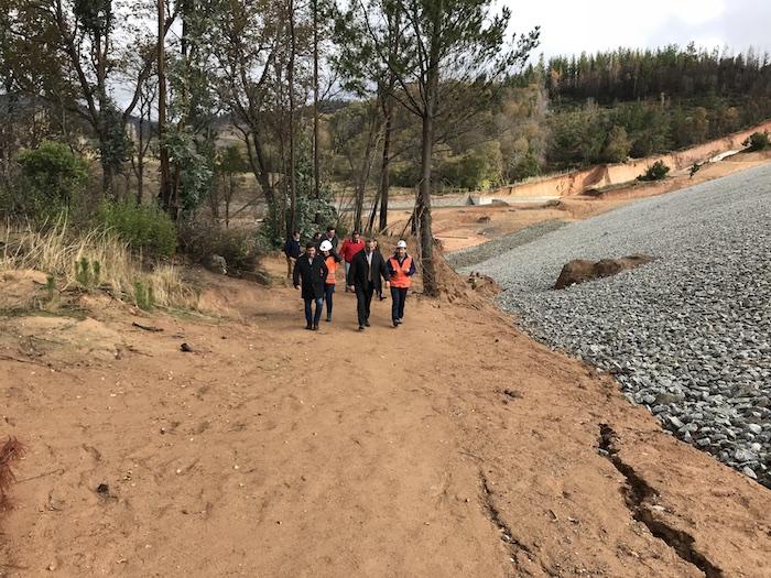Inspeccionan embalse de Empedrado que permitirá regar más de 250 hectáreas
