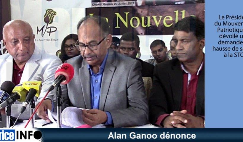 Alan Ganoo dénonce