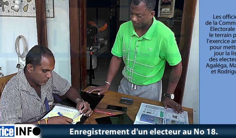 Enregistrement un electeur au No 18