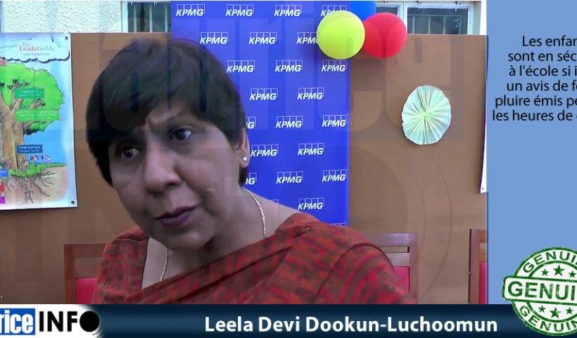 Leela Devi Dookun-Luchoomun a dit