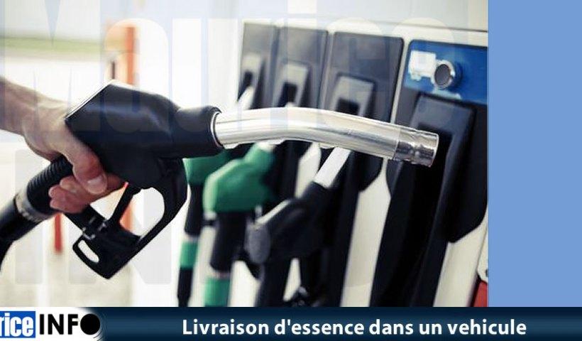 Livraison d'essence dans un vehicule