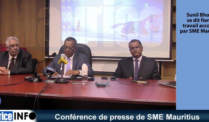 Conférence de presse de SME Mauritius