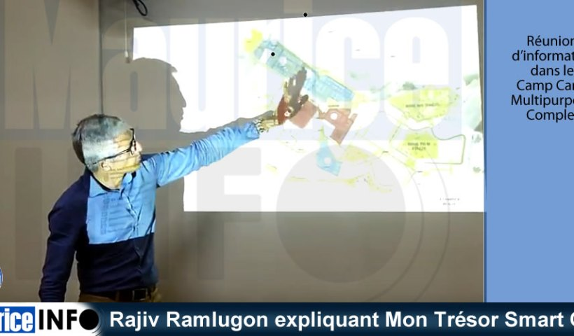Rajiv Ramlugon expliquant Mon Trésor Smart City