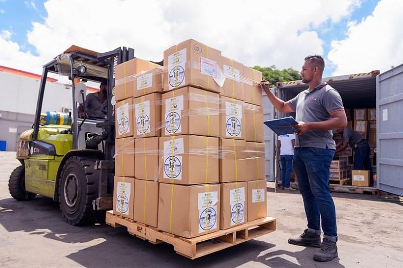 Le site de stockage et de traitement des colis d'Aria Logistics à Maurice est à Baie du Tombeau