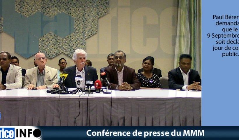 Conférence de presse du MMM du 30 Mars 2019