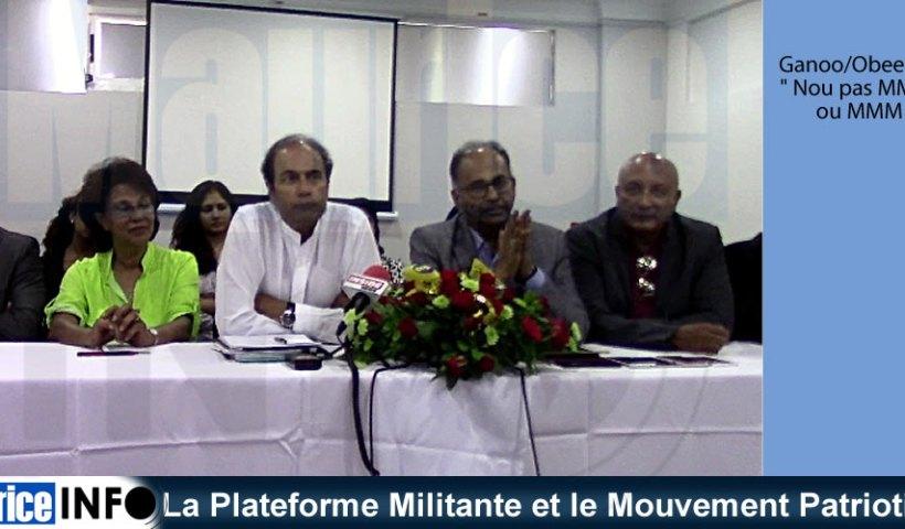 La Plateforme Militante et le Mouvement Patriotique