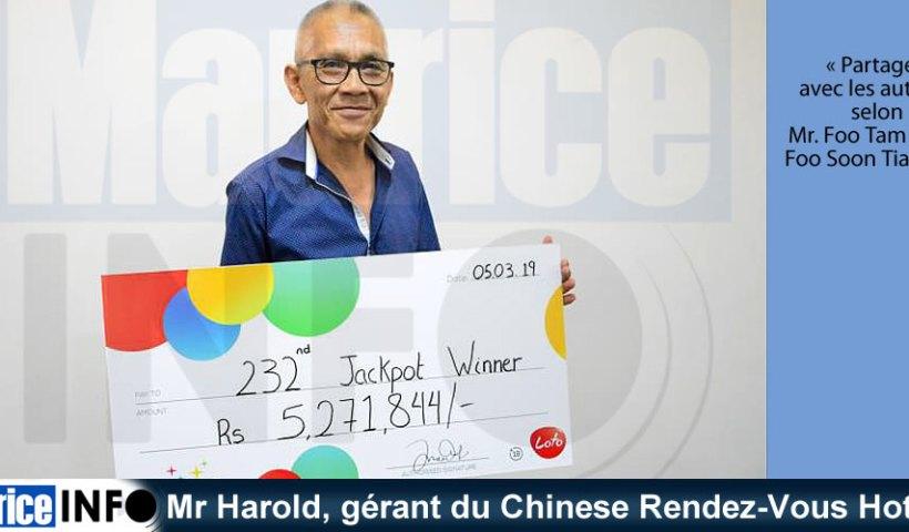 Mr Harold gérant du Chinese Rendez-Vous Hotel