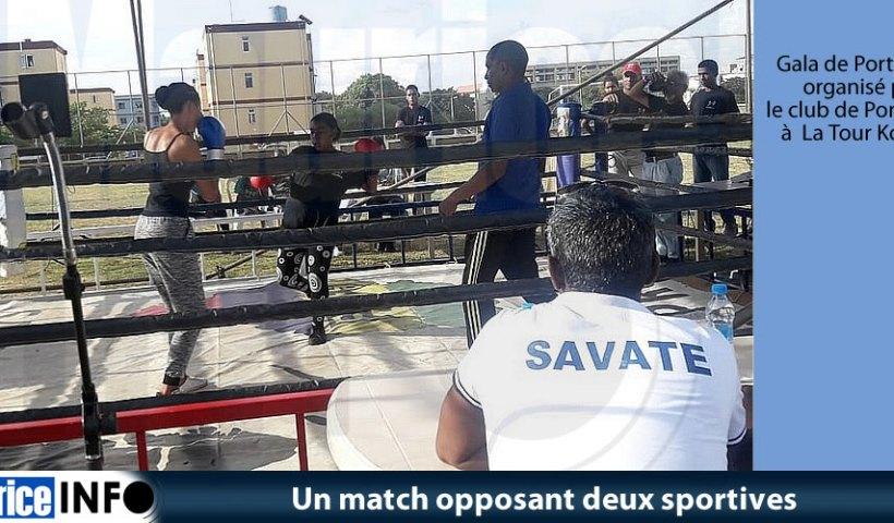 Un match opposant deux sportives