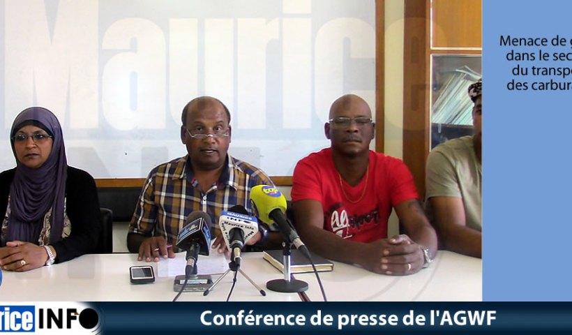 Conférence de presse de l'AGWF