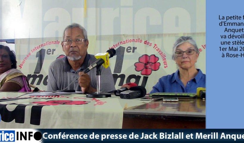 Conférence de presse de Jack Bizlall et Merill Anquetil