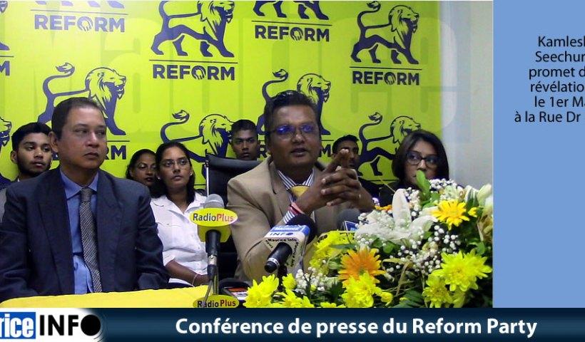 Conférence de presse du Reform Party