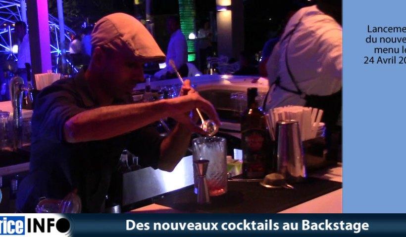 Des nouveaux cocktails au Backstage