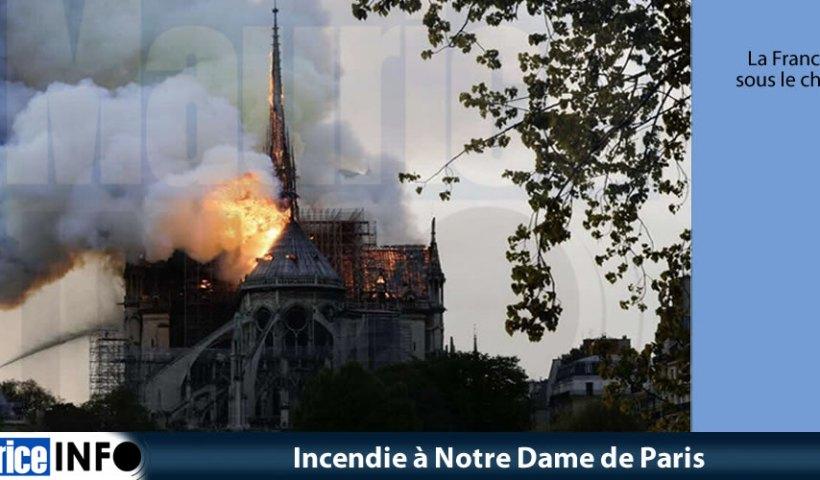 Incendie à Notre Dame de Paris