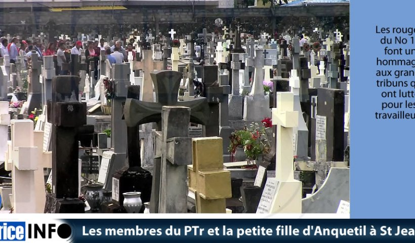 Les membres du PTr et la petite fille d'Anquetil à St Jean
