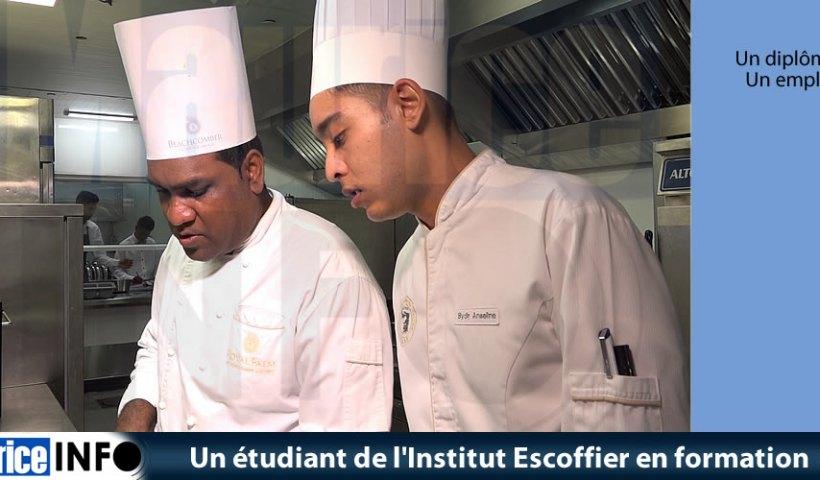 Un étudiant de Institut Escoffier en formation