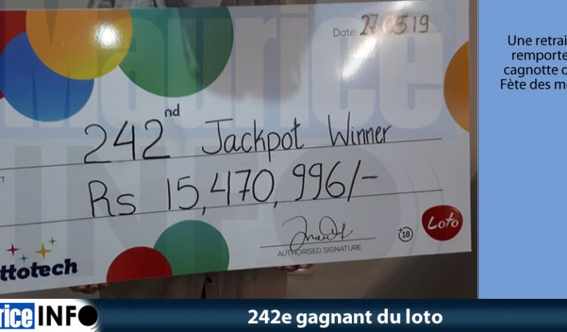 242e gagnant du loto